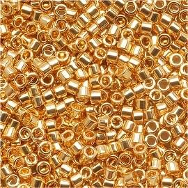 Miyuki Delica Seed Beads 15/0 24 Karat Gold Plated DBS031 (4 Grams)