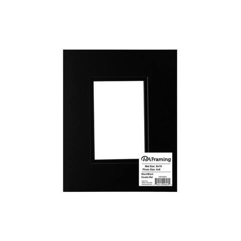 ADF Mat Dbl 8x10/4x6 BlkCore Black/Black - Black