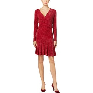 MICHAEL Michael Kors Womens Cocktail Dress Metallic Fit & Flare
