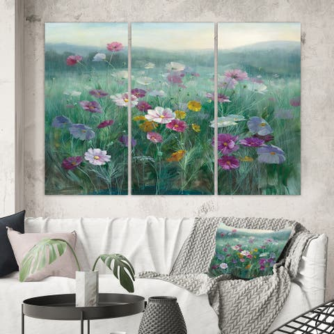 Porch & Den 'Flower field' Canvas Wall Art