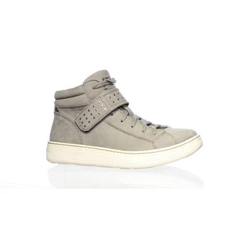 Earth Womens Zeal Grey Soft Buck Fashion Sneaker Size 5.5