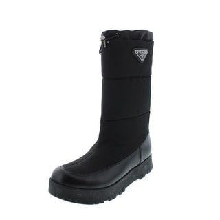 Prada Womens Leather Insulated Mid-Calf Boots - 39