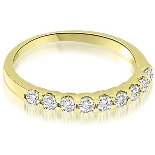 0.27 cttw. 14K Yellow Gold Classic Prong Set Round Diamond Wedding Band