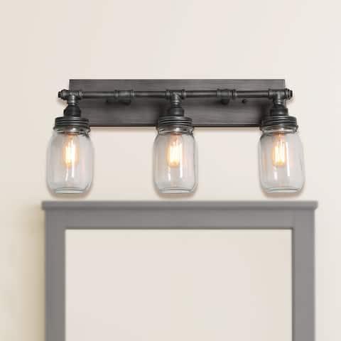 Carbon Loft Vawdrey 3-light Black Wall Sconces Vanity Lights Bathroom