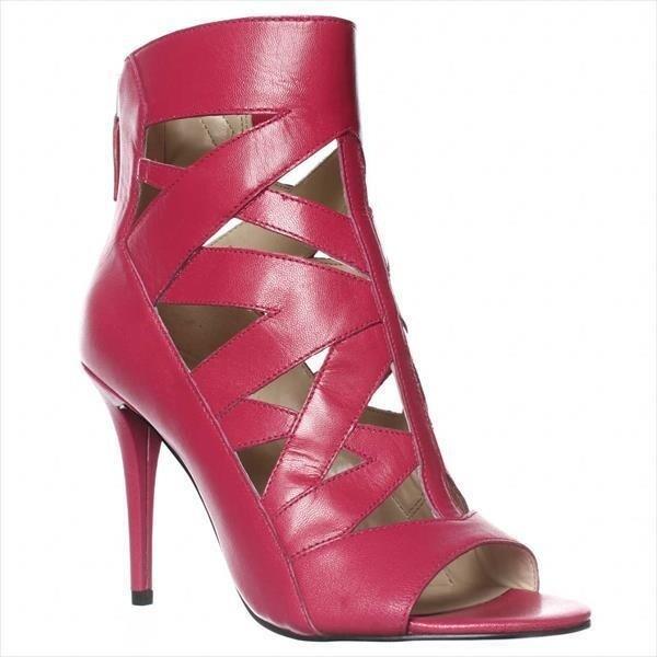 Nine West Delfina Cut-Out Peep Toe Dress Sandals, Pink