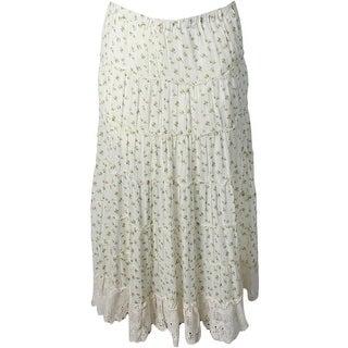 Denim & Supply Ralph Lauren Womens Maxi Skirt Floral Print Tiered
