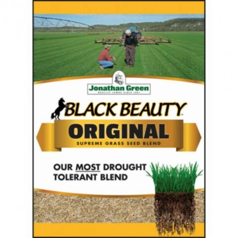 Jonathan Green 10315 Black Beauty Grass Seed Blend, Up To 7500 Sq.Ft, 25 Lbs