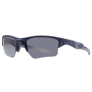 OAKLEY Sport Half Jacket 2.0 XL Men's OO9154-24 Polished Navy Blue Black Iridium Sunglasses - 62mm-15mm-133mm