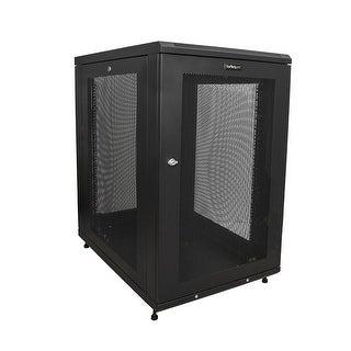 """Startech Rk1833bkm Server Rack Cabinet 18U 31"""" Deep Enclosure Network - Black"""
