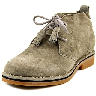 Hush Puppies Cyra Catelyn Women W Round Toe Suede Gray Ankle Boot