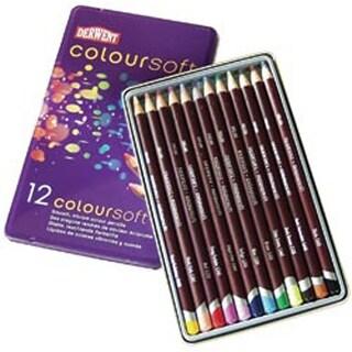 Derwent Coloursoft Pencil Tin 12/Pkg-