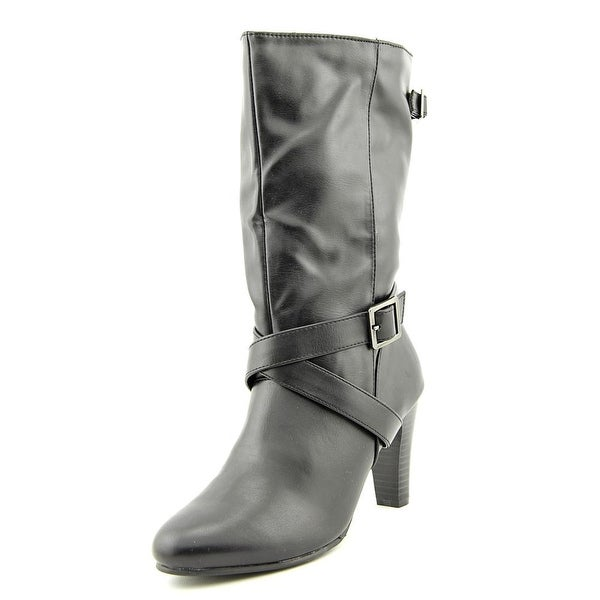 Karen Scott Violett Round Toe Synthetic Mid Calf Boot