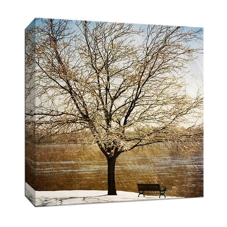 "PTM Images 9-146767  PTM Canvas Collection 12"" x 12"" - ""Lonely Tree in Sun"" Giclee Trees Art Print on Canvas"