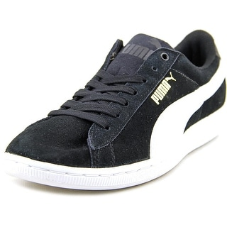Puma Vikky Women Round Toe Suede Black Sneakers
