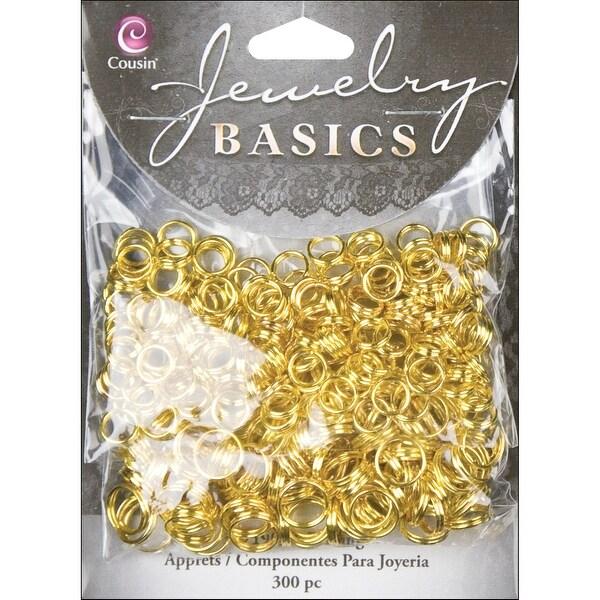 Jewelry Basics Metal Findings 300/Pkg-Gold Split Rings 6mm To 8mm - GOLD