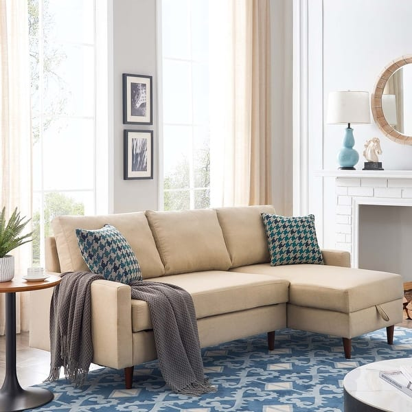 Pull Out Sleeper Sectional Sofa,Corner Sofa-bed With Storage,3 Seat ,right Handed - Overstock - 32765071