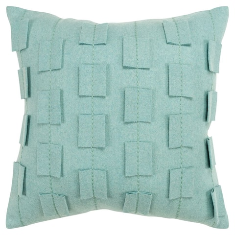"""Donny Osmond by Rizzy Home Stripe That Shows As A Solid 20""""X20"""" Throw Pillow"""