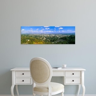 Easy Art Prints Panoramic Images's 'Los Angeles Skyline from Mulholland, California' Premium Canvas Art