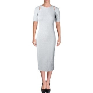 Elizabeth and James Womens Casual Dress Cut-Out Heathered