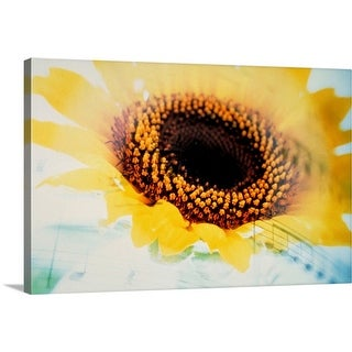 """""""Flower with music sheet combination"""" Canvas Wall Art"""