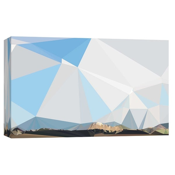 """PTM Images 9-103721 PTM Canvas Collection 8"""" x 10"""" - """"Fractal Mountain Horizon"""" Giclee Mountains Art Print on Canvas"""
