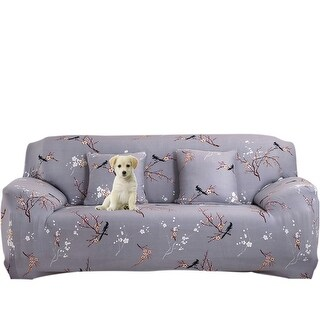 Plum Blossom Pattern L-Shaped Stretch Sofa Covers Chair Couch for 1 2 3 Seater