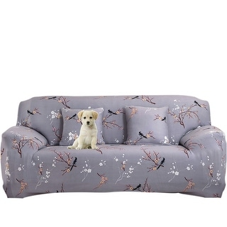 Plum Blossom Pattern L Shaped Stretch Sofa Covers Chair Couch For 1 2 3  Seater