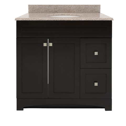 """Foremost MXVT3722-MB Monterrey 37"""" Free Standing Single Basin Vanity"""
