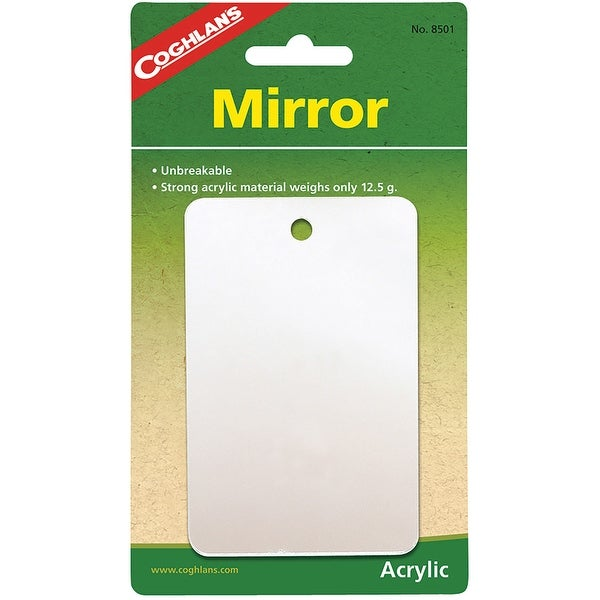Coghlan's Featherweight Mirror, Unbreakable Acrylic Material - 2.75 in.x4.25 in.. Opens flyout.