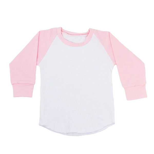 Unisex Baby Light Pink Two Tone Long Sleeve Raglan Baseball T-Shirt 6-12M