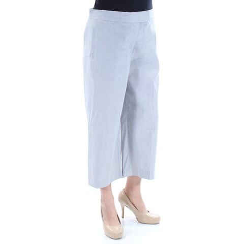 DKNY Womens Gray Cropped Wide Leg Pants Size: 12