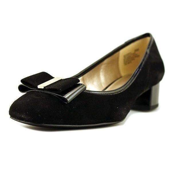 Bandolino Ximena Women Round Toe Canvas Black Heels