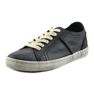 Dolce Vita Zander Women Leather Black Fashion Sneakers