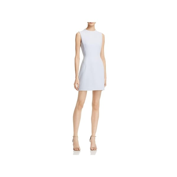 Shop French Connection Womens Wear To Work Dress Cap Sleeves A Line