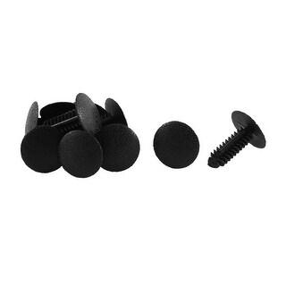 Unique Bargains 10 Pcs Black Plastic Push-Type Interior Fastener Mat Rivet for Ford
