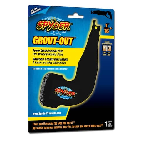 "Spyder 100227 Grout-Out 1-1/6"", Black"