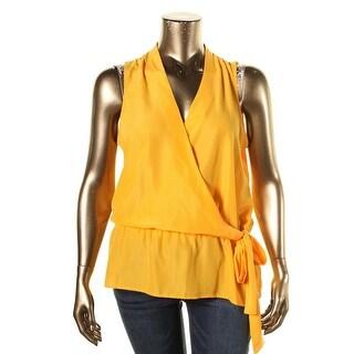 MICHAEL Michael Kors Womens Sheer Peplum Pullover Top - S