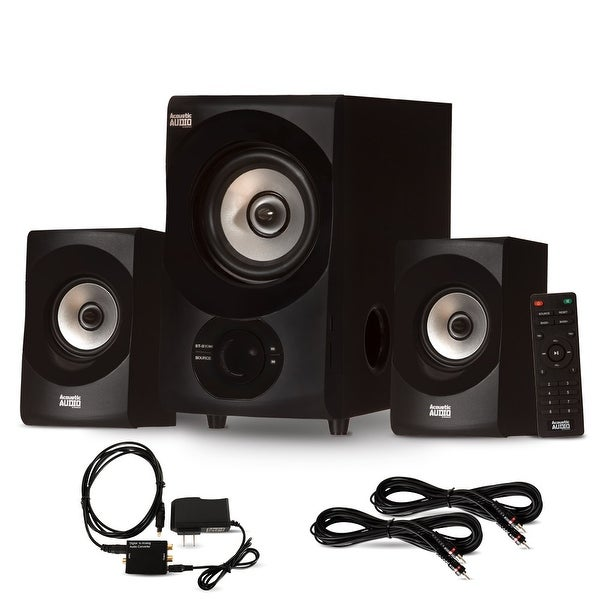 Acoustic Audio AA2171 Bluetooth 2.1 Speaker System Optical Input & 2 Ext. Cables