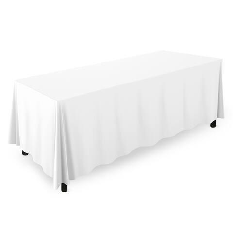 "20-Count 90"" x 132"" Premium Rectangular Tablecloth - White"
