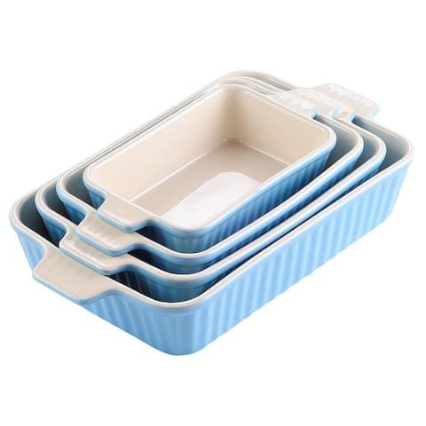 MALACASA Baking Dish, 2.25/1.5/1.1/0.6 Qt (Set of 4)