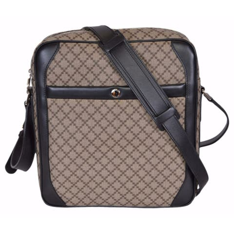 Gucci Men's 268159 Diamante Plus Coated Canvas Crossbody Messenger Bag