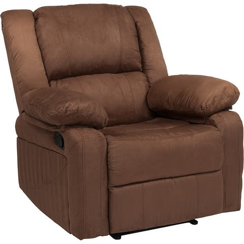 Offex Harmony Series Chocolate Brown Microfiber Recliner