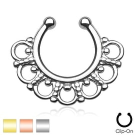 Tribal Fan Non-Piercing Septum Hanger (Sold Individually)