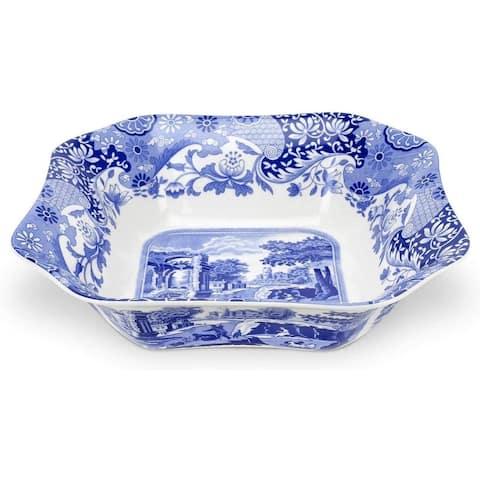 Spode Blue Italian Square Serving Bowl - Blue/White