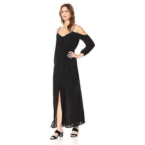 BB Dakota Women's Keaton Off The Shoulder Maxi Dress, Black, SZ Small