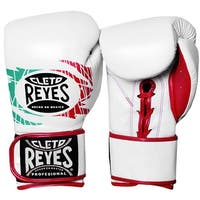 Cleto Reyes Lace Up Hook and Loop Hybrid Boxing Gloves - Mexican Flag - mexican flag