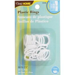 """Plastic Rings 3/4"""" 24/Pkg-White"""
