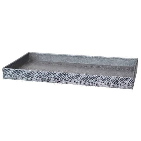 Snakeskin Vanity Tray, Silver - 14x7