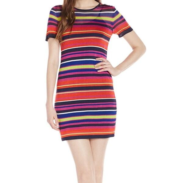 31d7fbd3906384 Trina Turk NEW Red Blue Women's Size Large L Striped Sheath Dress