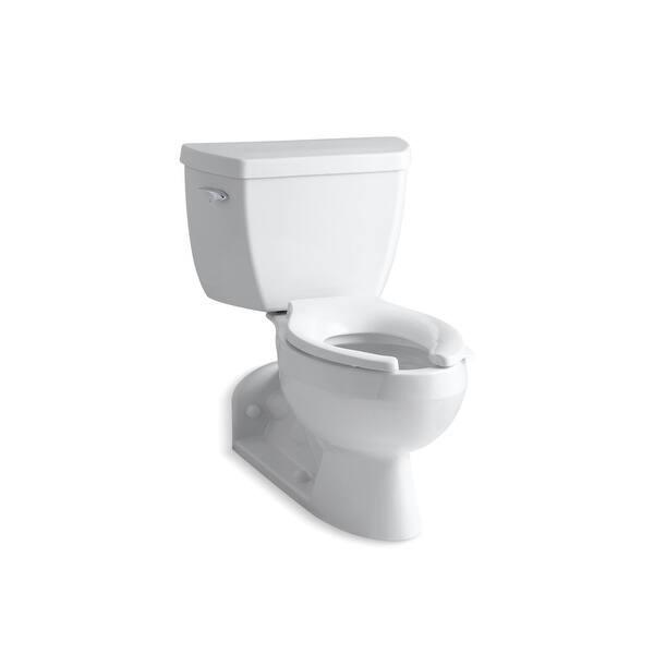 Shop Kohler Barrington 2 Piece Elong 1 6 Gpf Toilet W Pressure Lite R Flushing Technology Left Hand Trip Lever White K 3554 0 Overstock 31485094